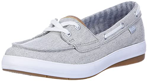 Keds womens Charter Chambray Sneaker, Grey, 7.5 US