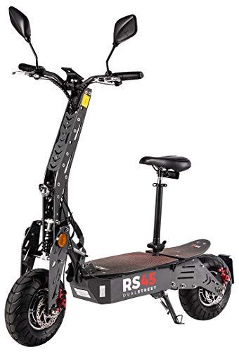 eFlux RS45 Pro Elektroroller Scooter - 2000 Watt Allrad Hubmotoren - Straßenzulassung - 45 Km/h Geschwindigkeit - Scheibenbremsen - E-Scooter (RS45 Pro Grau)