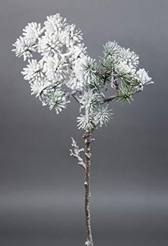 Seidenblumen Roß Japanischer Pinienzweig mit Schnee 60cm JA Kunstzweig künstlicher Tannenzweig künstliche Pinie Tanne