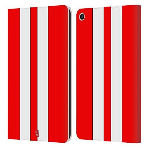 Head Case Designs Roter Rennenwagen Transportmittel Farbig Leder Brieftaschen Handyhülle Hülle Huelle kompatibel mit Xiaomi Mi Pad 4 Plus