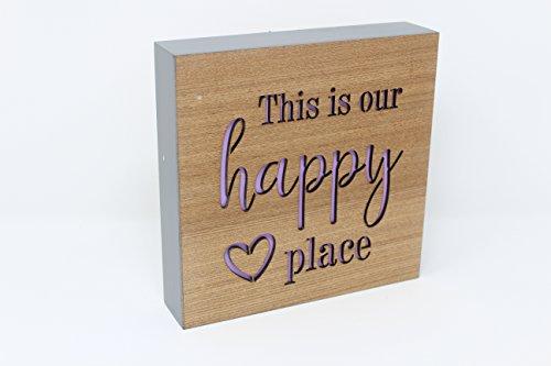 Transomnia this is our Happy Place Block Sign libera installazione da appendere alla parete
