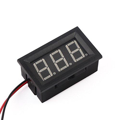 """12 Volt Digital Voltmeter, DROK 0.56"""" DC 3-30V 12v Voltage Tester Gauge Green Bright LED Display Two Wires Volt Meter Detector for Solar Battery Monitor Checker Car Motor Panel Mount"""