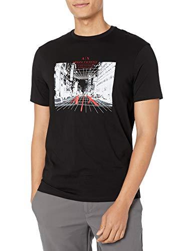 ARMANI EXCHANGE Short Sleeve Big Logo t-Shirt, Black, S Uomo