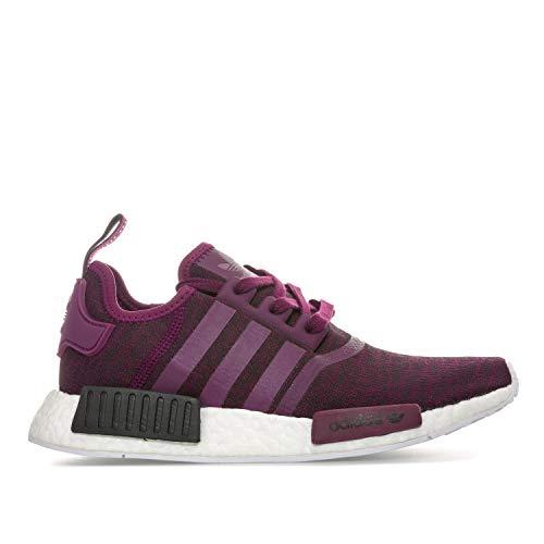 Adidas Originals NMD_R1 - Sneaker da donna, colore: Viola/Rosso notte, Viola (Viola), 42 EU