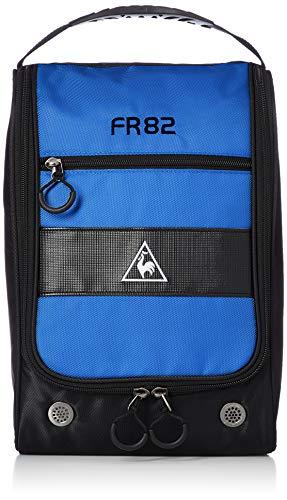 [ルコックスポルティフゴルフ] 【20年秋冬モデル】 シューズケース フルオープンタイプ 定番 QQBPJA20 BL00(ブルー) フルオープンタイプのシューズケースです。中央部分に異素材を使用し、高級感を出しています。持ち手部分に、滑りにくい材質のハン