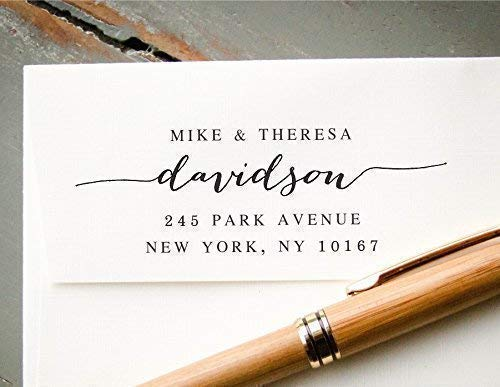 Save the Date Stamp Pre-inked Return Address Stamp Wedding Invitation Stamp Pre-Inked Custom Rubber Stamp Different Last Names