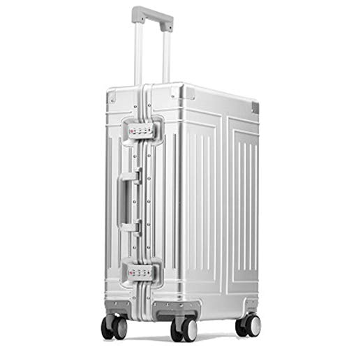 Chendaorong Trolley Case All Aluminum Magnesium Alloy Luggage Box Universal Wheel Trolley Case 26 Inch Aluminum Alloy Suitcase Lightweight with Wheels (Color : C2, Size : 26inch)