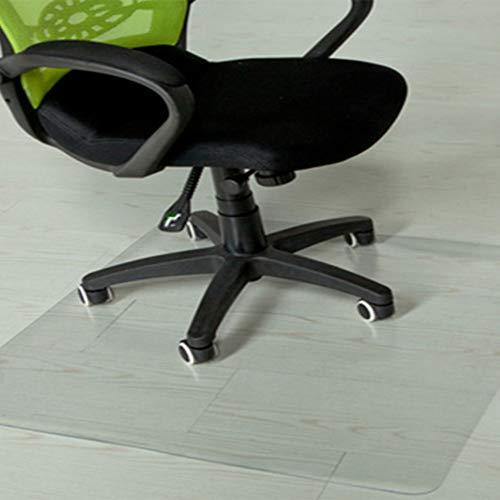 WLF-didian PVC rechteckige Teppichschutzmatte, Vinyl für Hartböden, rutschfeste transparente Bodenschutzmatte, 4 Größen, 3 Stärken,2.0mm,80 * 120cm