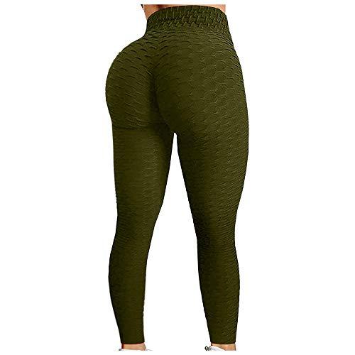 バッター セクシーな女性はヨガのズボンを押す固体ジャカードスポーツレギンスジムタイツストレッチランニングフィットネスレギンスガールスポーツパンツ 女性のためのブーツカットヨガパンツ Hyococ (Color : Army Green, Size : XX-Large)