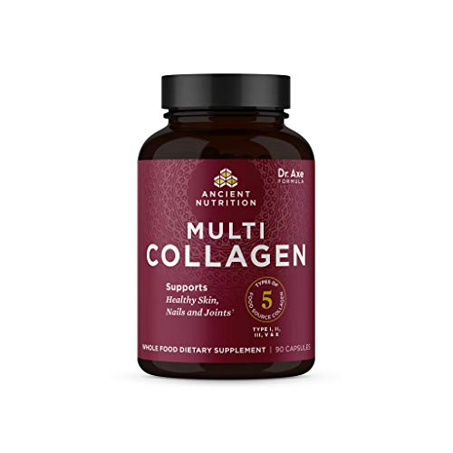 Collagen Peptides Pills By Ancient Nutrition, Hydrolyzed Multi Collagen Supplement, Types I, II, II, V & X, Supports Healthy Skin And Nails, Gut Health And Joints, 90 Capsules