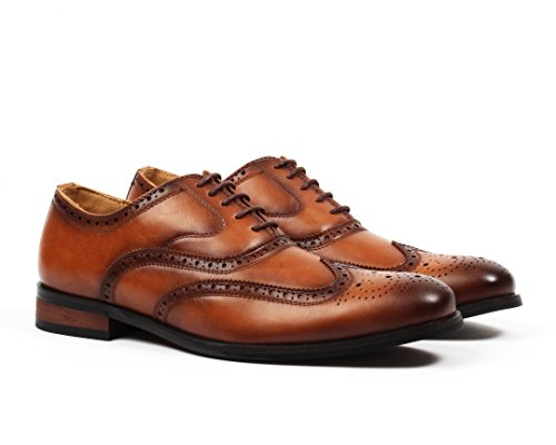 Santino Luciano Men's Oxford Wingtip Brogue Dress Shoes