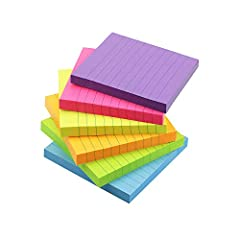 3 in x 3 in, 6 Pads / Pack, 100 Sheets / Pad, 6 colors, bright colors, easy to find out message what you write. Medium size, easy to use, portable, bright color, making your message more noticeable, not easy to be ignored. Made with high quality pape...