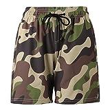 N\C Nuevos Pantalones De Playa para Hombre Pantalones Cortos con Estampado 3D De Camuflaje Personalizado Pantalones Deportivos Casuales De Secado Rápido Elásticos En Cuatro Direcciones M
