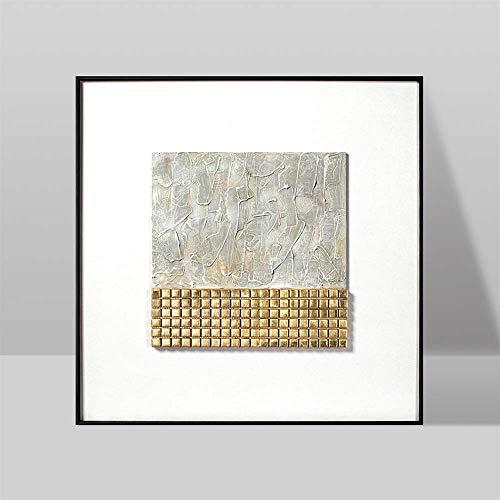 ZHQHYQHHX (I 60 * 60cm Wandgemälde Malerei Chinese New Nordic Einfache europäischen Stil Wohnzimmer-Sofa Hintergrund Dekorative Malerei Dreidimensionale Mural Hängende Malerei (Color : Schwarz)