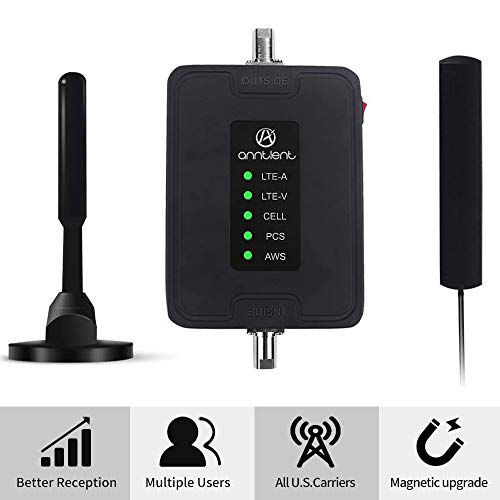ANNTLENT 5 Band Cell Phone Signal Booster for Car Truck and RV - Band 2/4/5/12/13/17 Vehicle 4g...