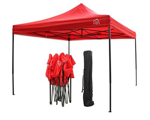 All Seasons Gazebos Robusto Gazebo Pieghevole da 3m x 3m. Completamente Impermeabile, ha in Dotazione Una Sacca per Il Trasporto + 4 Sacchetti di Peso (17 Colori a Scelta) (Rosso)