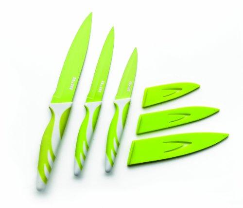 IBILI 727650 - Cuchillo De Cocina Verde 8,5+12,5+15