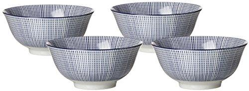 Ritzenhoff & Breker Schalen-Set Royal Makoto, 4-teilig, 15,5 cm Durchmesser, 650 ml, Porzellangeschirr, Blau-Weiß