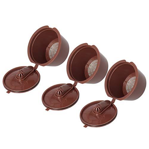 Juego de filtros de café de cápsula recargables, herramienta reutilizable para cafetera Dolce Gusto, taza de café de 51 a 100 ml
