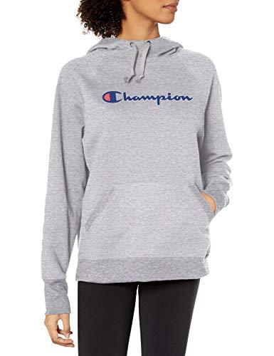 Champion Women's Powerblend Fleece Hoodie, Script...