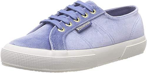 Superga 2750-velvetchenillew, Zapatillas de Gimnasia Mujer, Azul (Blue Sky 129), 37 EU