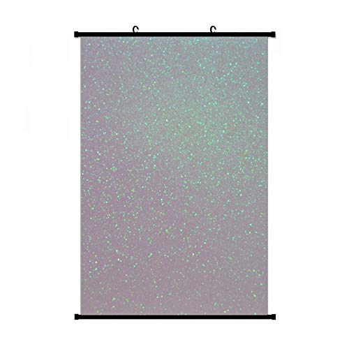 Iridescent Snow Aurora Borealis Northern Lights Snowy Glitter Apron Anime Living Room Bedroom Home Decoration Gift Fabric Wall Scroll Poster (16x24) Inches