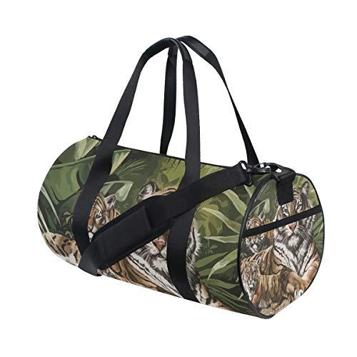 Eslifey Tigers sdraiato palestra borsa da viaggio borsone per uomo e donna