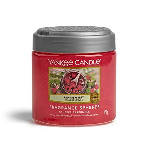YANKEE CANDLE Sfere Profumate per Ambiente, Fino a 30 Giorni di Fragranza, Lampone Rosso