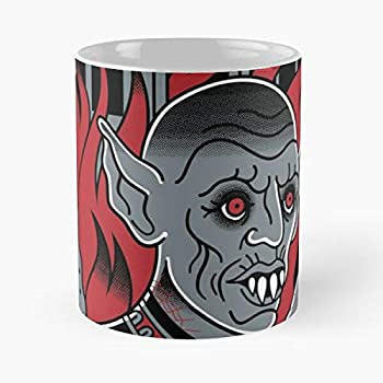 Church Salem King Tattoo Vampire Burning Fire Stephen Flash Horror The best 11oz White marble ceramic coffee mug