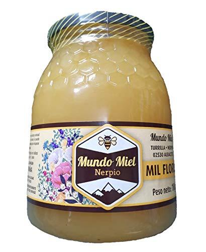 Miel de abeja Natural. CRISTALIZADA. Cruda y Pura Mil Flores. Directa del Apicultor. Nerpio, Sierra del Segura, 100% NATURAL- Empresa Familiar- Desde 1972- Origen ESPAÑA 1Kg