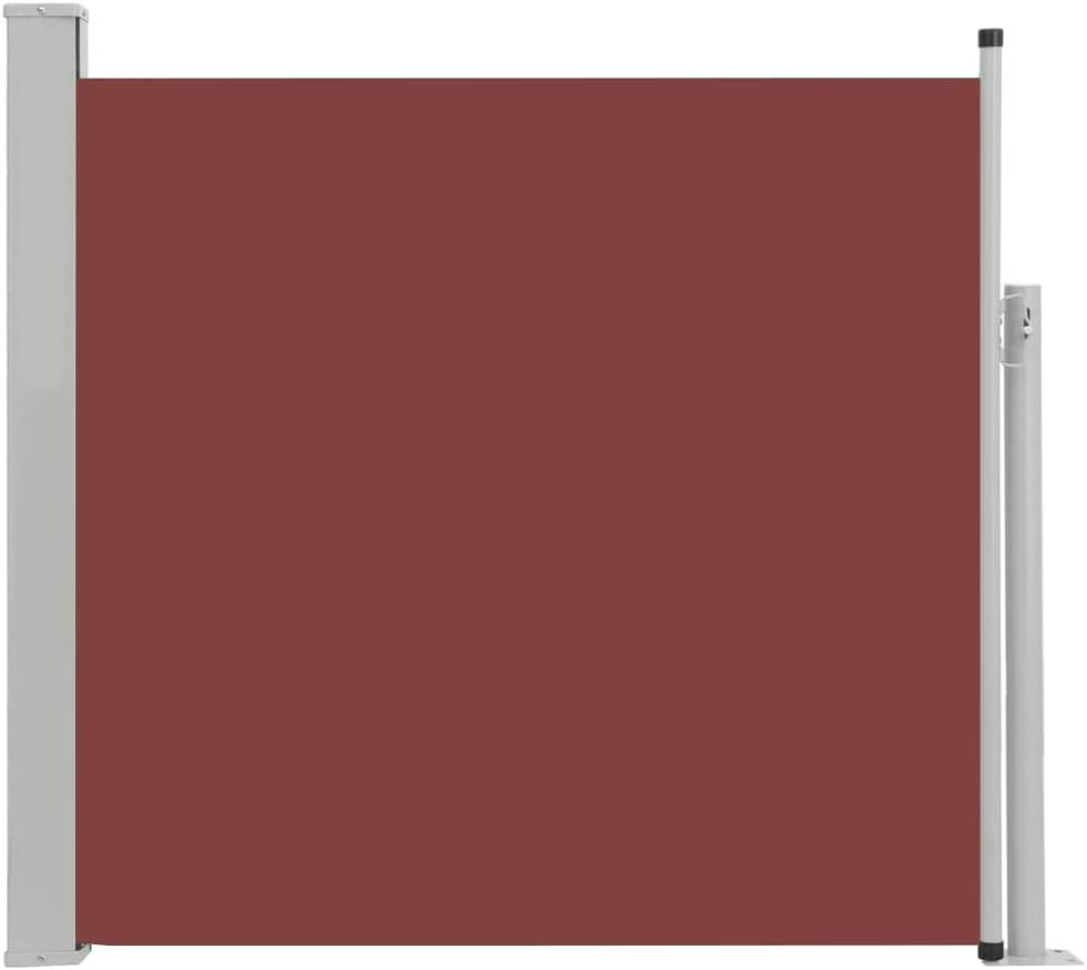 Canditree 170x300 cm Outdoor Retractable Side Awning Privacy Divider Wind Screen for Patio Balcony Terrace Brown
