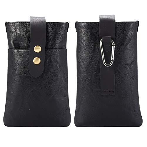 Funda para teléfono celular para hombre, bolsa de cuero para teléfono Samsung S20, S10e, S10, S9, S8, S7, S7edge S6 Edge, para iPhone SE 2020 XR XS 8 7 6 (color: negro)