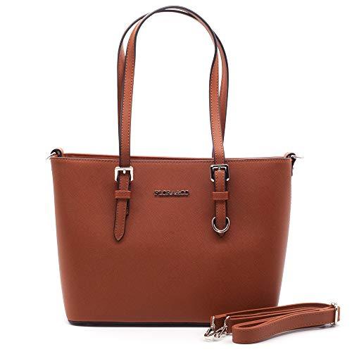 Flora& Co Handtasche 9179 Damen Arbeit Shopper Tasche Handtasche Damenhandtasche Henkeltasche (Camel)