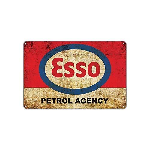 Tarfy Esso Petrol Agency Oil Gasoline Gas Station Retro Weinlese-Blechschild-Dekorations-Bar-Kaffee-Café-Nachmittagstee-Grill-Geschäft