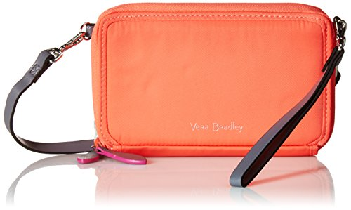 Vera Bradley Women's Midtown All in One Crossbody Purse with RFID Protection, Coral Reef