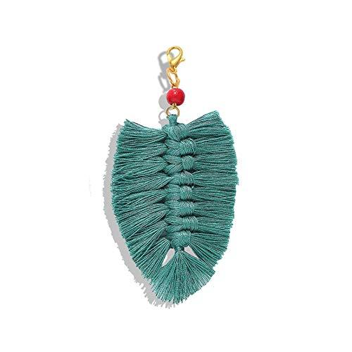 Yinyimei Llavero Mejores Dama borlas Macrame llaveros for Las Mujeres Hechas a Mano de la Armadura de Clave Titular de Llavero del Coche del Bolso Accesorios Colgantes Regalos (Color : 83)