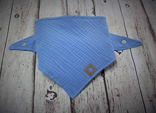 Hellblau, Halstuch, Musselintuch, Mädchen, Kinder, Kinderhalstuch, Baby, Junge, Dreieickstuch, Handmade, Musselin, 100% Baumwolle