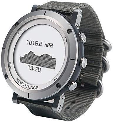 Ondersteuning Barometer & Hartslagmeter, Bereik 1 North Edge Mannen Mode Professionele Geweven Horlogebanden Buiten Sport Regenjas Smart Digitaal Horloge
