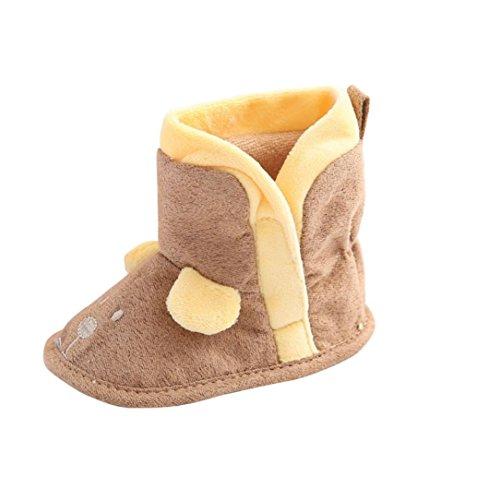 kingko® Infant Toddler catoon souple Sole Bottes de neige de bébé fille Crib Shoes (12~18 Mois)