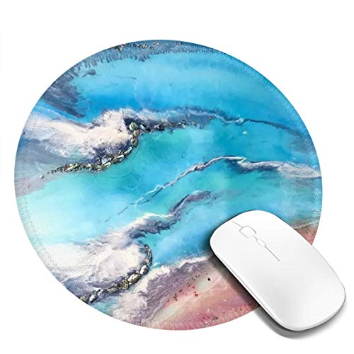 Gaming Computer Mouse Pad Round Large Mouse Pad Non-Slip Base, Water-Resistant, for Work & Gaming, Office & Home 20cm