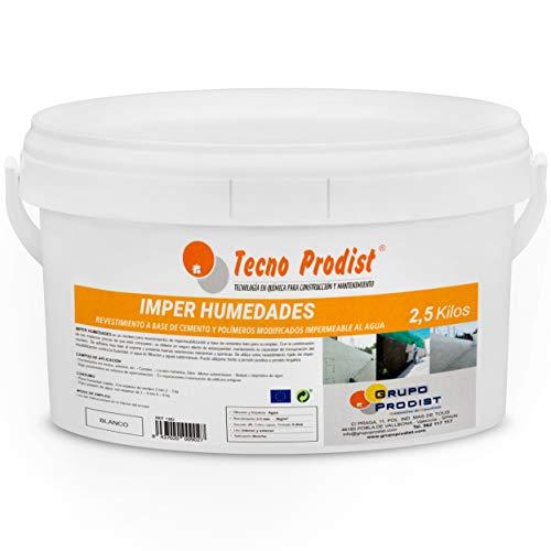 IMPER HUMEDADES de Tecno Prodist - (2,5 Kg) - Mortero para revestimiento...