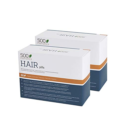 500Cosmetics Hair- Cápsulas Naturales para Prevenir y Evitar la Caída del Pelo con L-Cysteine y Zinc - Mejora el estado del Cabello y Aporta Nutrientes - Para Hombre y Mujer. (2)