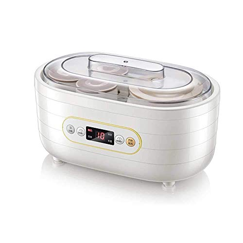 Yogur de la máquina, del hogar y de cocina multifuncional de cerámica taza de yogur de la máquina, el yogur hecho en casa fácil de la máquina, de cerámica tarros Ogurt Cafetera, Dairy Fermentación Mac