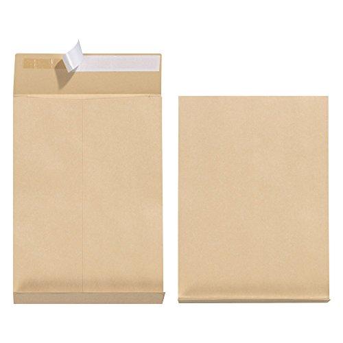 Herlitz 11290020 Faltentasche B4, haftklebend ohne Fenster mit 4 cm Falte, 100 Stück