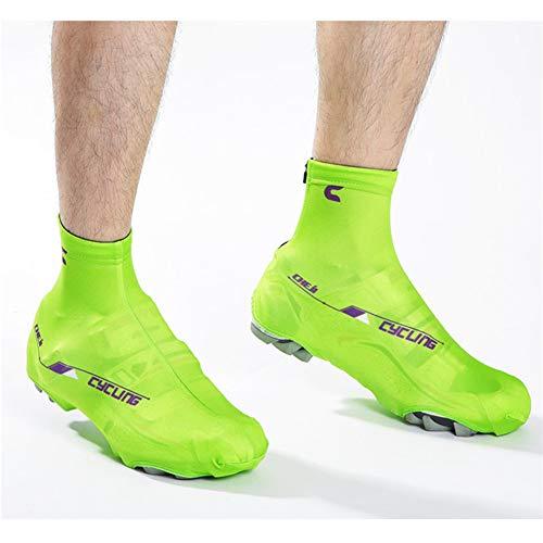 LUCHONG Sundried - Botas de ciclismo para deportes al aire libre, impermeables, resistentes al viento, ideales para verano, accesorios de ciclismo, color verde, 39