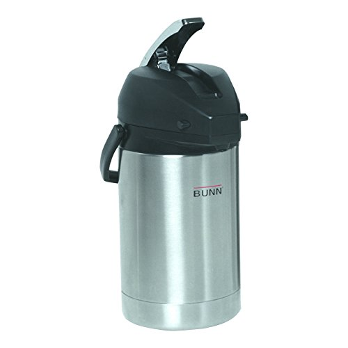 BUNN 2.5 Liter Lever-Action Airpot, Stainless Steel, 32125.0000