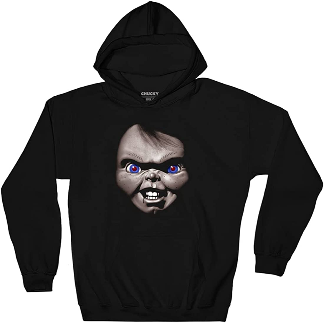Purchase Ripple Junction Chucky Adult Unisex Face Over Fleece Hoodie Pull San Jose Mall