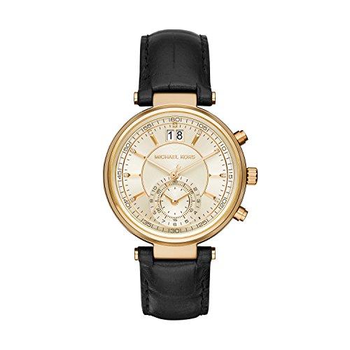 Micheal Kors Damen-Armbanduhr Analog Quarz Leder MK2433