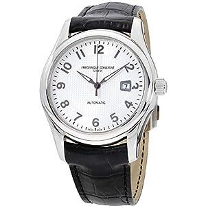 Frederique Constant Men's FC-303RM6B6 Runabout Automatic Silver Dial Black Strap Watch image
