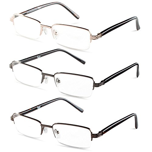 Half rim glasses online - Glasses without frame on bottom